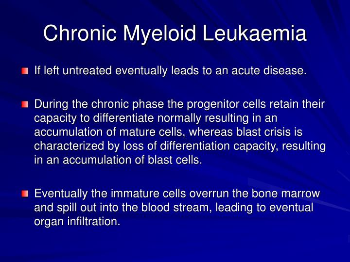 Chronic myeloid leukaemia1