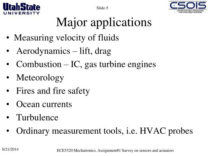 Major applications