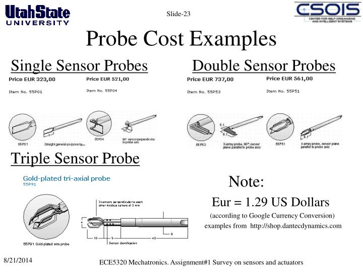 Probe Cost Examples