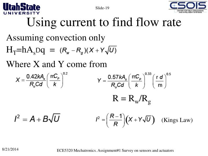 Using current to find flow rate