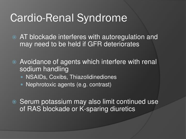 Cardio-Renal Syndrome