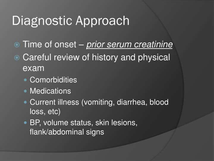 Diagnostic Approach