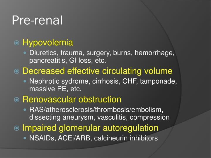 Pre-renal