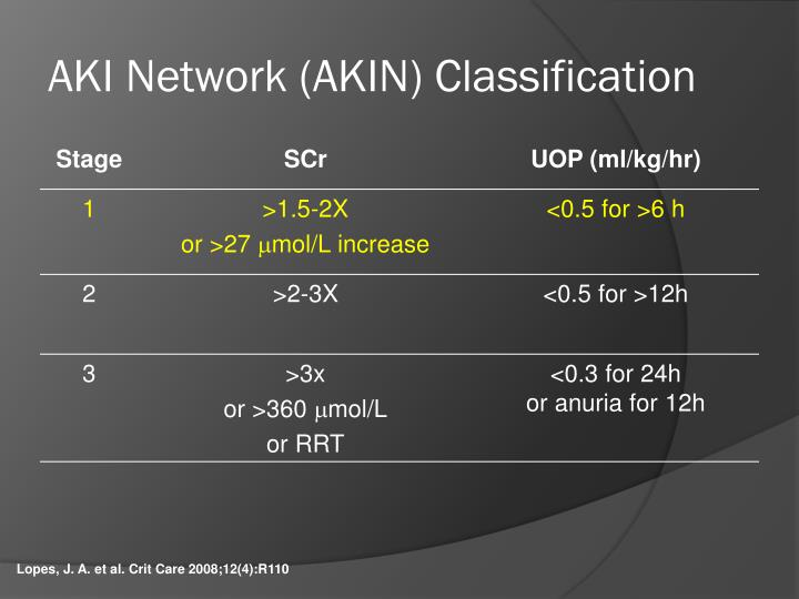 AKI Network (AKIN) Classification
