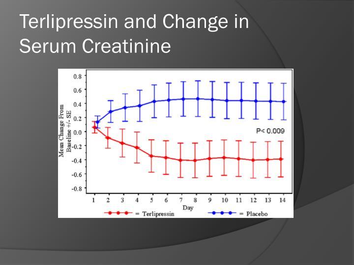 Terlipressin and Change in Serum Creatinine