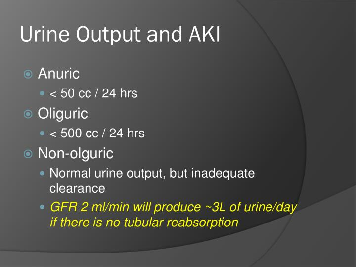 Urine Output and AKI