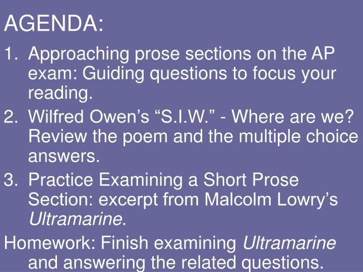 ap literature and composition poetry essay questions Advanced placement literature and composition welcome to the ap lit and comp page on this page you will find documents, assignments, links, and models that are relevant to the curriculum of this course.