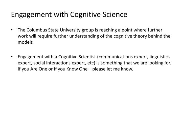 Engagement with Cognitive Science