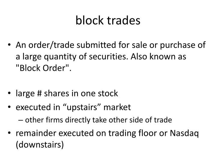 block trades