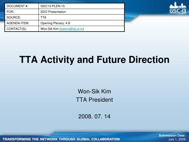 tta activity and future direction n.