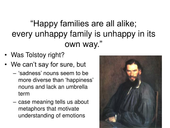 happy families are all alike meaning