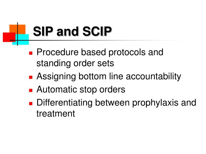 SIP and SCIP