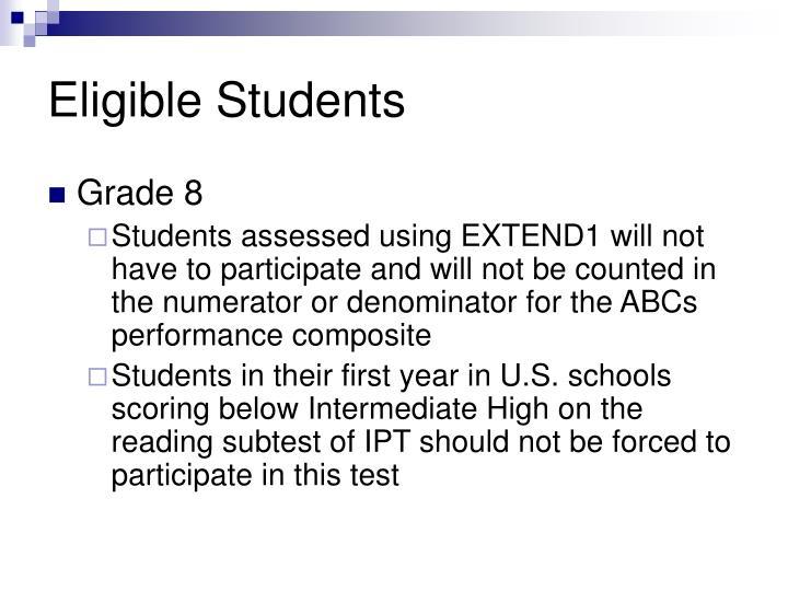Eligible students