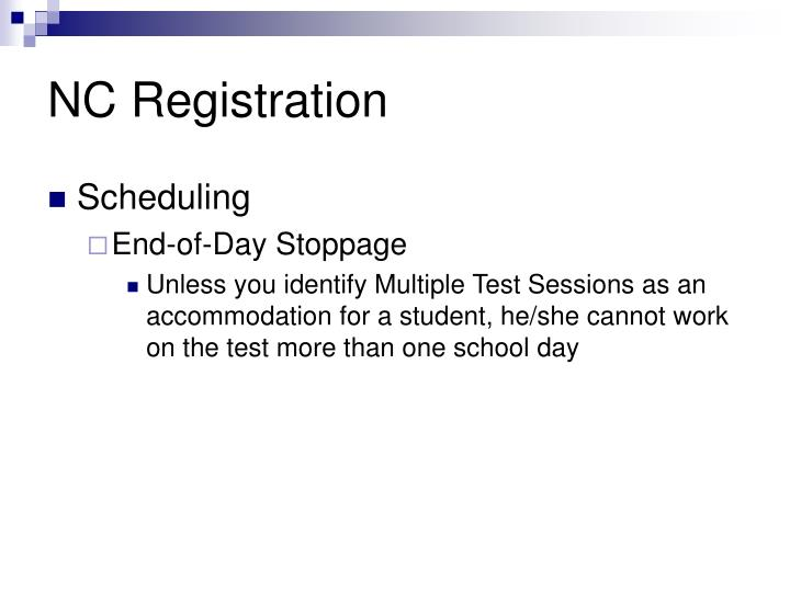 NC Registration