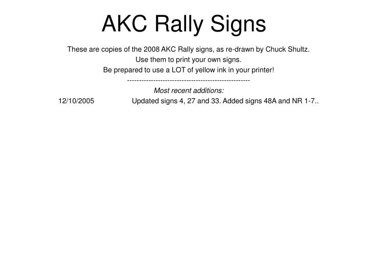 akc rally signs n.