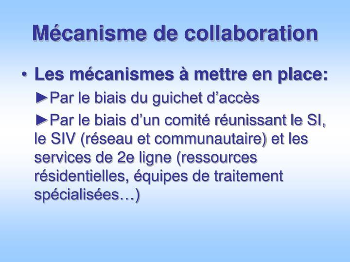 Mécanisme de collaboration