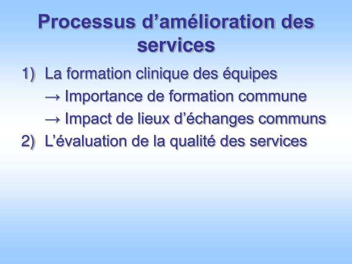 Processus d'amélioration des services