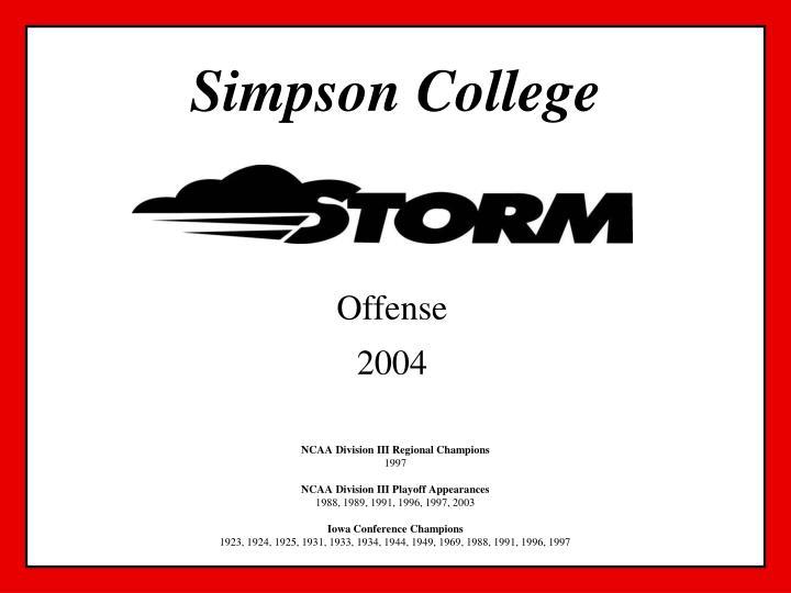 simpson college n.
