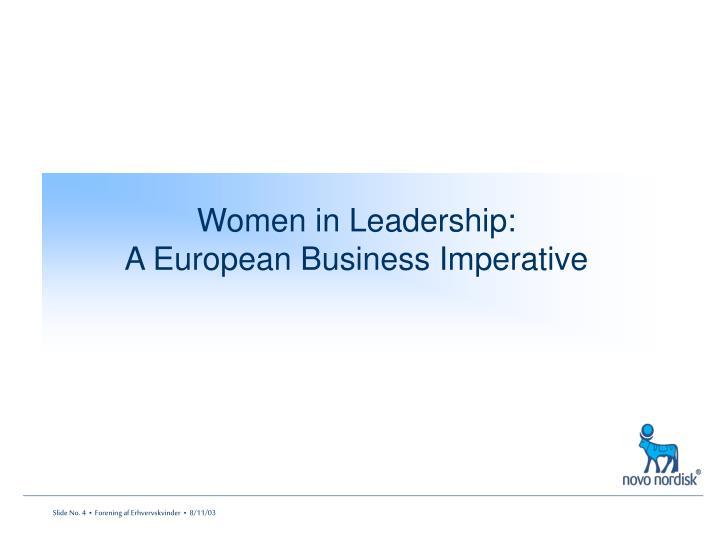 Women in Leadership: