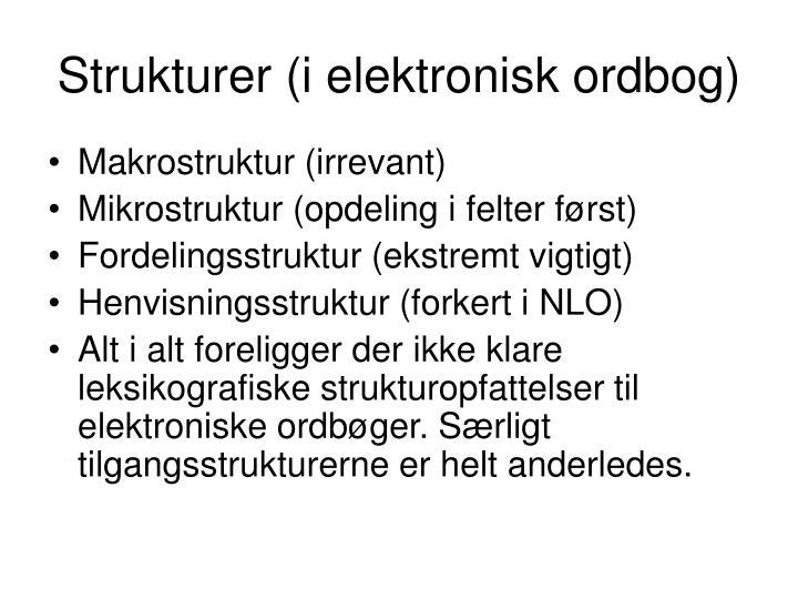 Strukturer (i elektronisk ordbog)