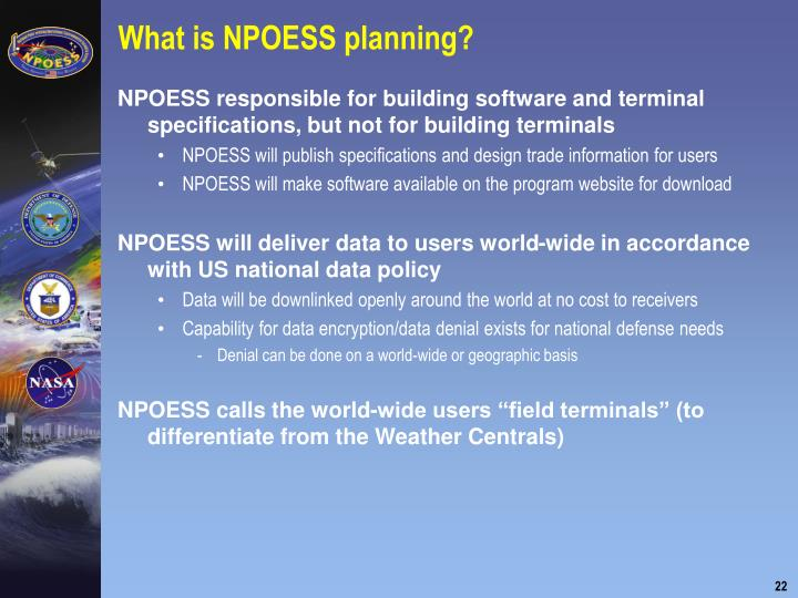 What is NPOESS planning?