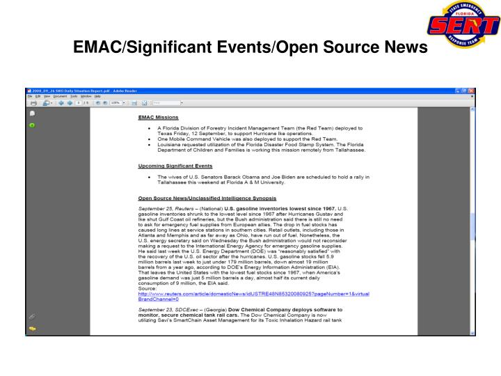 EMAC/Significant Events/Open Source News