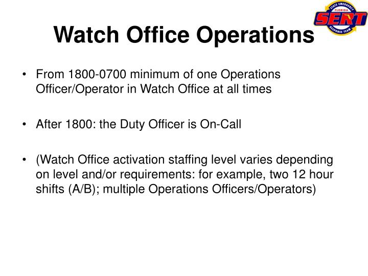 Watch office operations1
