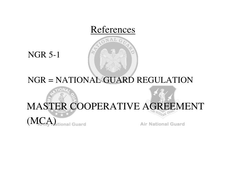 Ppt cooperative agreement training state federal perspectives ngr 5 1 ngr national guard regulation master cooperative agreement platinumwayz