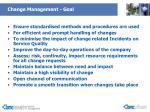 change management goal