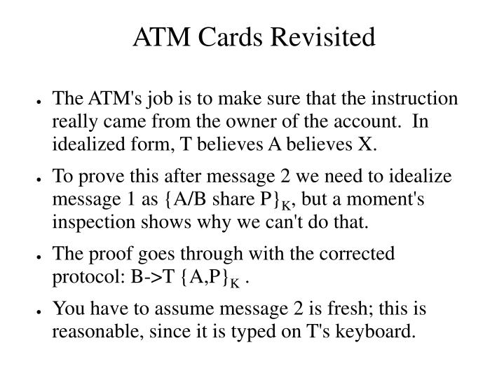 ATM Cards Revisited