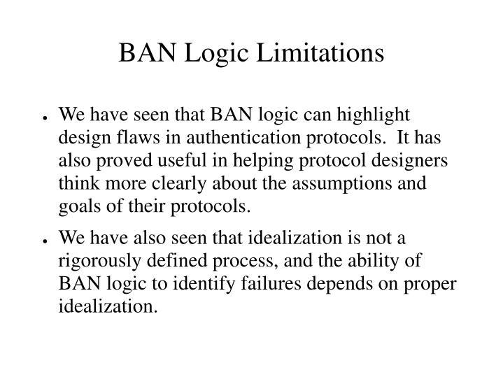 BAN Logic Limitations