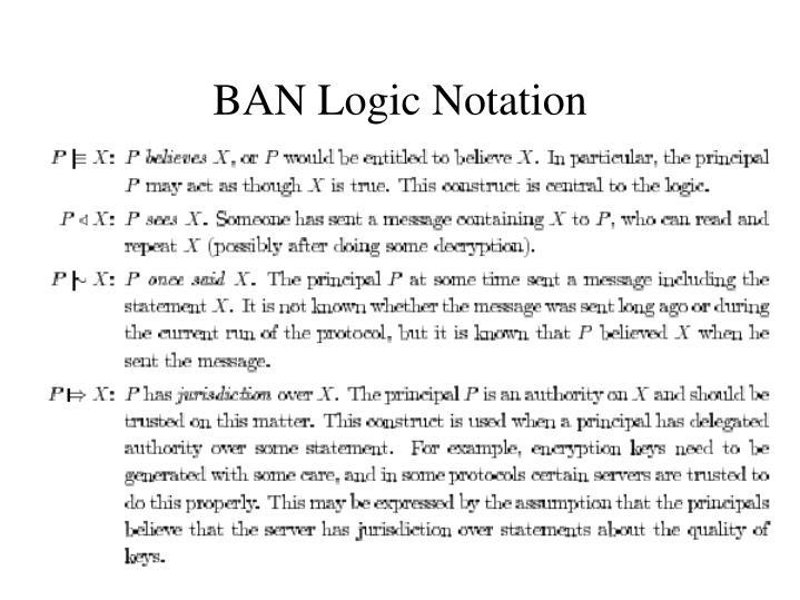 BAN Logic Notation