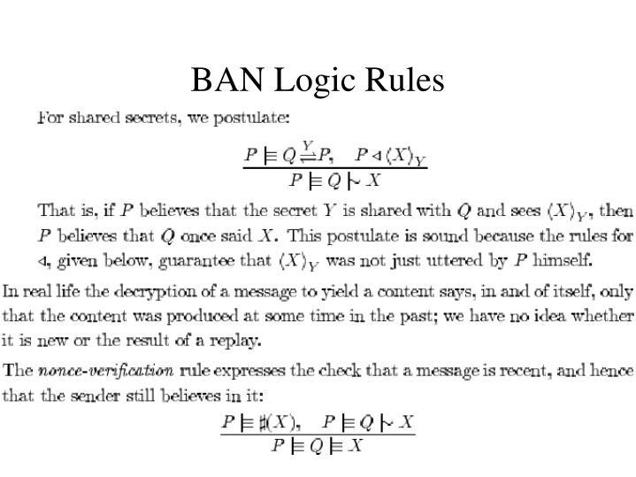 BAN Logic Rules
