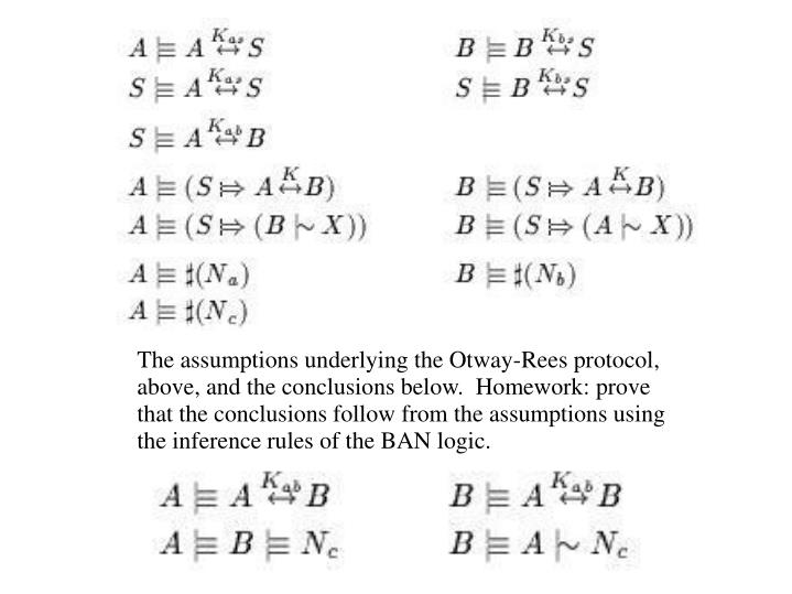The assumptions underlying the Otway-Rees protocol,