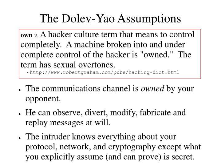 The Dolev-Yao Assumptions
