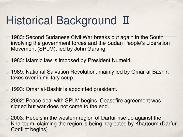 Historical Background Ⅱ