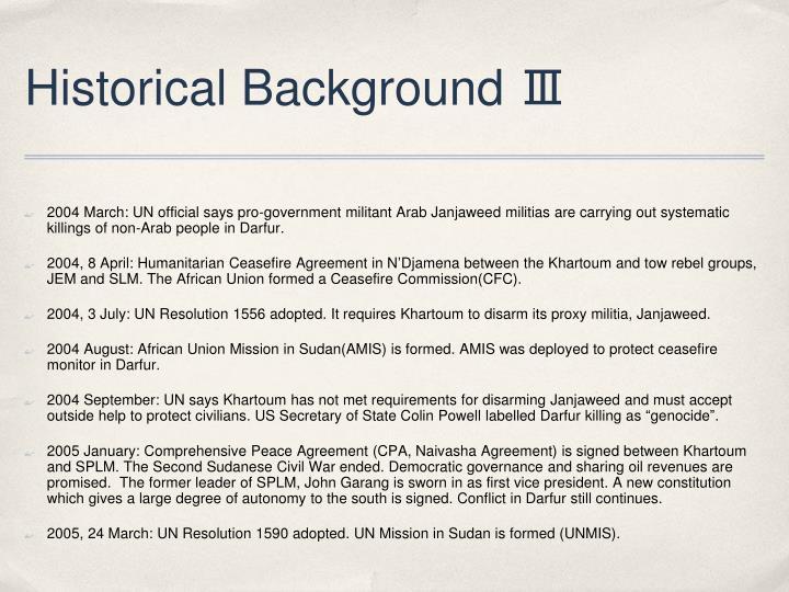 Historical Background Ⅲ