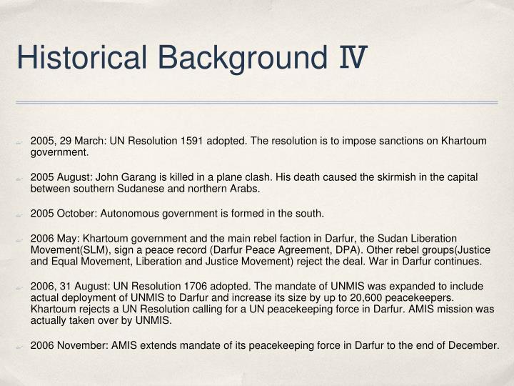 Historical Background Ⅳ