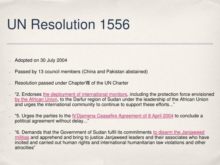UN Resolution 1556