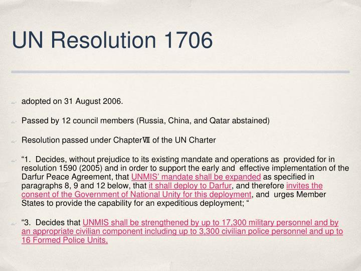 UN Resolution 1706