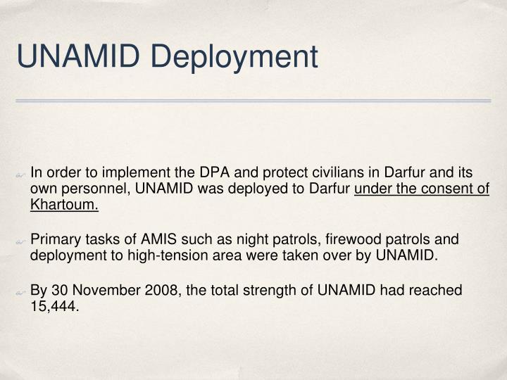 UNAMID Deployment