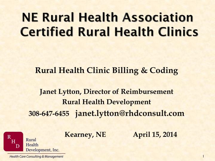 ne rural health association certified rural health clinics n.