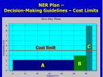 ner plan decision making guidelines cost limits