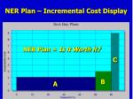 ner plan incremental cost display