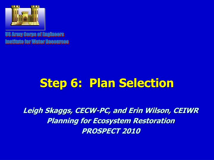 step 6 plan selection