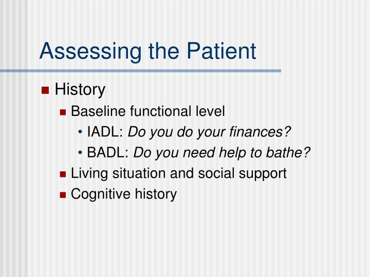 Assessing the Patient