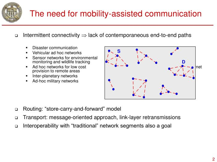 The need for mobility-assisted communication