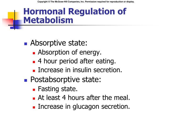 Hormonal Regulation of Metabolism
