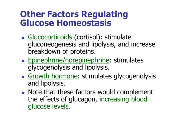 Other Factors Regulating Glucose Homeostasis