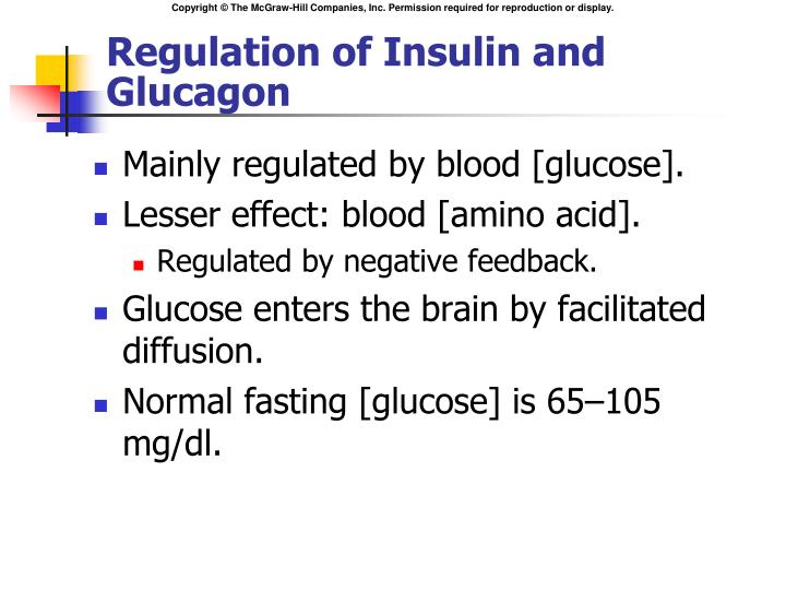 Regulation of Insulin and Glucagon